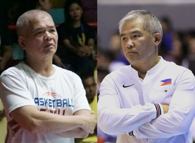 CEBU. Coach Mike Reyes (left) Coach Chot Reyes (right). (Tampo nga hulagway)