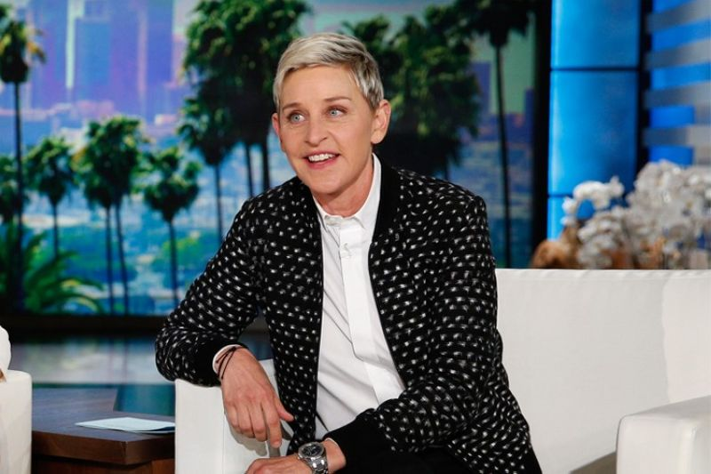 Ellen DeGeneres appears during a taping of the