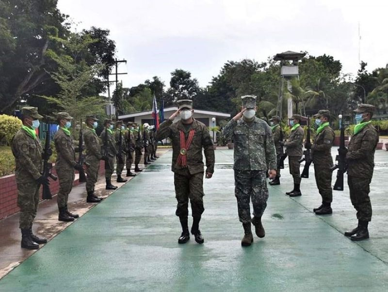 ZAMBOANGA. The Office of the Inspector General of the Armed Forces of the Philippines (AFP) is set to start the conduct Annual General Inspection (AGI) on all units of the Western Mindanao Command (Westmincom). A photo handout shows Lieutenant General Nemesio Gacal, the AFP's inspector general (left), visiting Tuesday, May 11, Westmincom headquarters in preparation for the AGI. (SunStar Zamboanga)