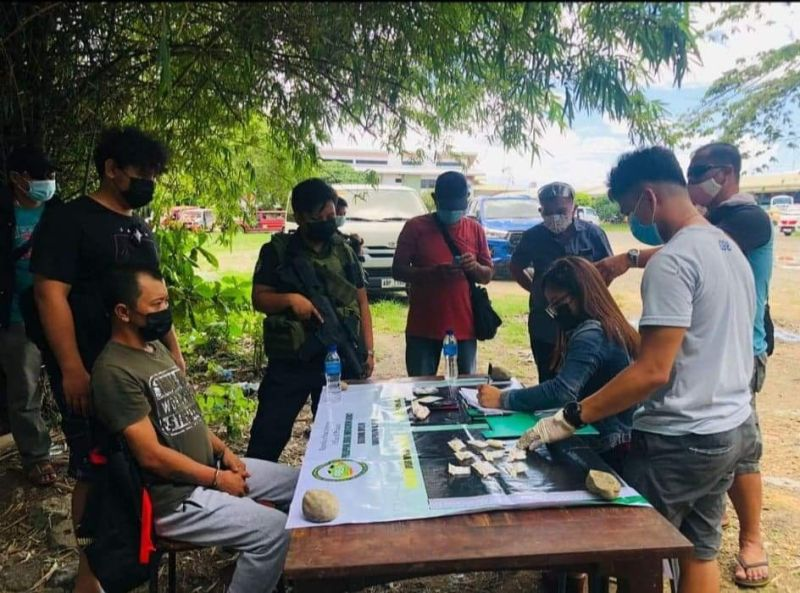 BACOLOD. A high-value target from Bacolod City was arrested in a buy-bust operation at the Old Tagbak Terminal, Jaro, Iloilo City on May 12. (PDEA-Western Visayas photo)