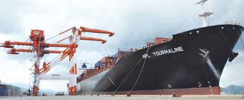 CONTAINER VESSEL AT SUBIC. A container ship is served at Subic Bay Freeport. (SBMA file photo)