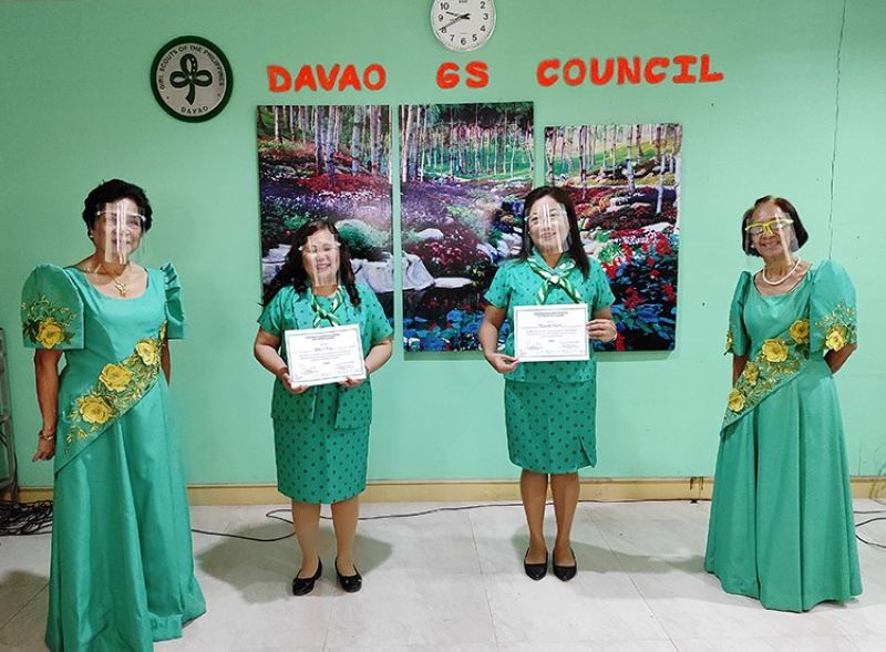 WAGGS' HIGHEST AWARD. (From left) Commissioner for Program Laura Elmido, Kathy Suarez, Marita Bagasla, and Commissioner for Training Nenita Navales. Suarez and Bagaslao are among the Asia Pacific Appreciation Awardees by the World Association of Girl Guides and Girl Scouts (Waggs). (Contributed photo)