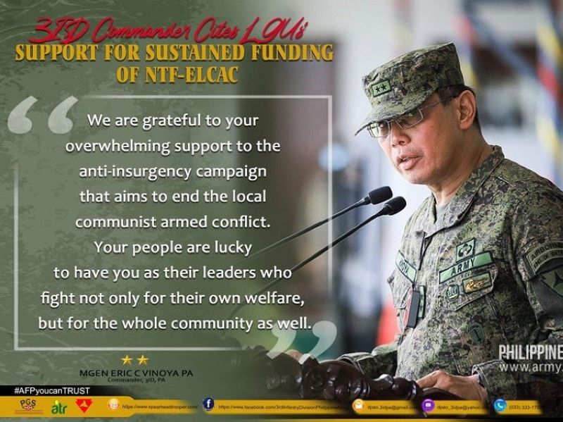 NEGROS. Major General Eric C Vinoya, commander of the Army's 3rd Infantry (Spearhead) Division. (Contributed photo)