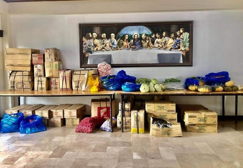 SILAY. The food bank launched by various groups at the Marian Missionaries of the Holy Cross, Saint Francis Subdivision in Barangay 5, Silay City over the weekend aimed at serving more local community pantries in the locality. (Contributed photo)