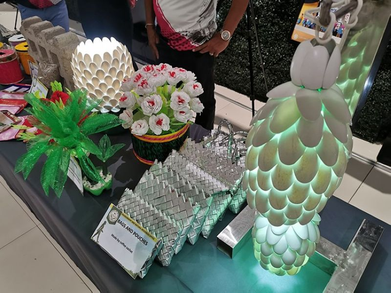 EXHIBIT. Some of the products of Palayan City displayed at SM Megacenter in Nueva Ecija. (Photo courtesy of Sheen Eugenio)
