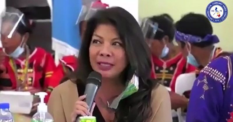 DAVAO. National Task Force to End Local Communist Armed Conflict (NTF-Elcac) Undersecretary Lorraine Marie Badoy. (Screenshot from RTVM video)