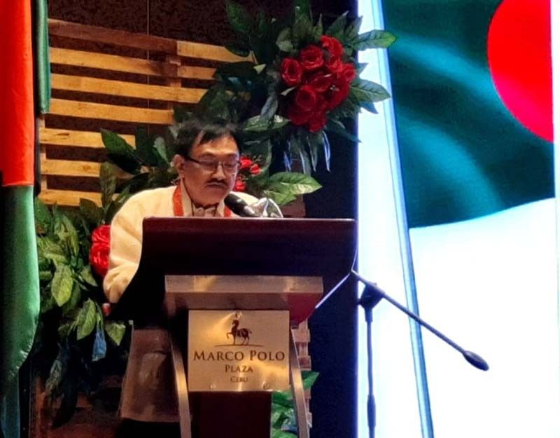 """DIPLOMAT. Following his extensive tasks in business, Cebuano entrepreneur Virgilio """"Nonoy"""" Espeleta assumes another role. He is now part of Cebu's diplomatic corps, having been recently installed as the Honorary Consul General of the People's Republic of Bangladesh in the Visayas. / FAMCOR"""