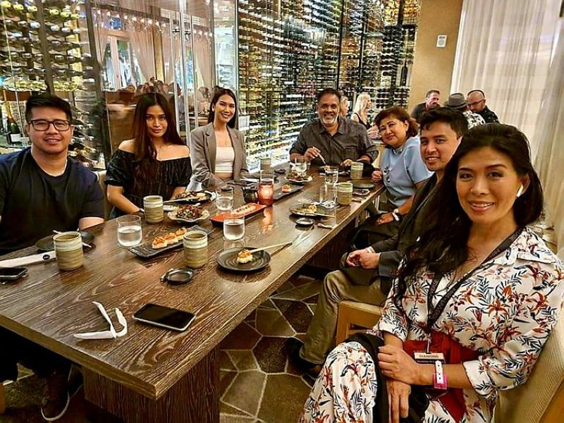 USA. A dinner held after preliminary night at Miss Universe at Seminole Hardrock hotel in Hollywood. In photo are former Miss Universe Philippines Jeanine Tunogon, Jennifer Hammond, Miss intercontinental 2016, Mr. Raji George, Mrs. Myrna George, Michael John Regalado and Kirsten Regalado. (Contributed photo)