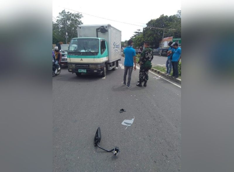 BACOLOD. The driver that hit a septuagenarian on Araneta Highway, Barangay Tangub, Bacolod City Thursday morning was released after his reglementary period lapsed. (BCPO Photo)