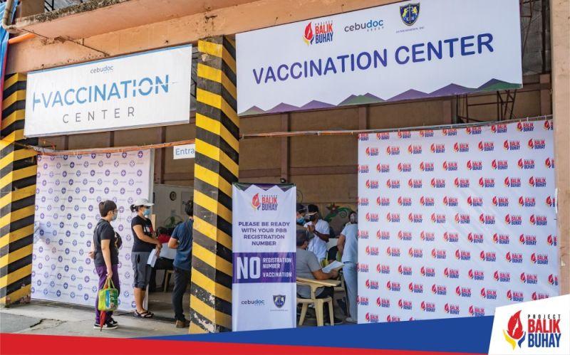 PROJECT BALIK BUHAY. Vaccination sites at the Cebu Doctors' University Hospital in Cebu City, Chong Hua Hospital in Mandaue City and Allegiant Regional Care Hospital in Lapu-Lapu City serve the private sector under Project Balik Buhay. / PBB Facebook