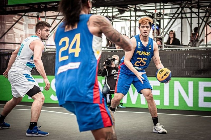 AUSTRIA. Leonard Santillan and the rest of the Gilas Pilipinas 3x3 just could not get anything going against Slovenia. (FIBA)