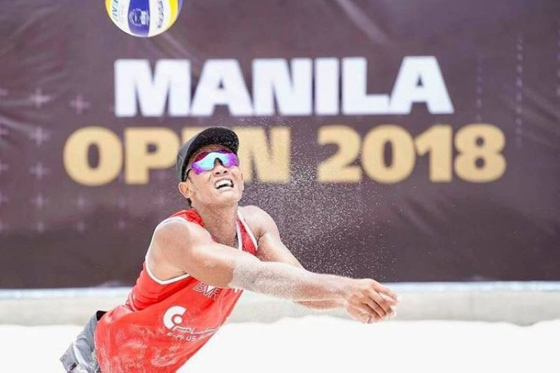SEA GAMES BUBBLE TRAINING. Former Holy Cross of Davao College men's volleyball varsity standout Calvin Sarte is currently in Ilocos Norte with the rest of the national beach volleyball team preparing for the upcoming 31st Southeast Asian (SEA) Games. (Contributed photo)