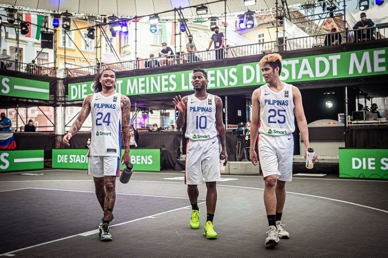 AUSTRIA. The Gilas Pilipinas 3x3 went toe-to-toe with France but ultimately fell short.  (FIBA)