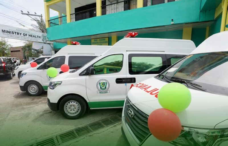 ZAMBOANGA. The Ministry of Health in the Bangsamoro Autonomous Region in Muslim Mindanao turns over Wednesday, June 2, eight ambulance units to various barangay health stations and rural health units in different towns of Maguindanao. A photo handout shows four of the ambulance units that were distributed to recipients. (SunStar Zamboanga)