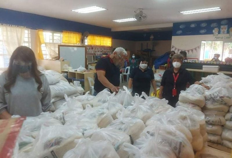 ANGELES CITY FOOD STOCKPILE. Angeles City Mayor Carmelo Lazatin, Jr., together with Chief Adviser and Tactician IC Calaguas and Executive Assistant IV Reina Manuel, on June 3, 2021 inspected the stockpile of 700 sacks of rice and 1,500 relief goods in the City Social Welfare and Development Office. (Angeles City Information Office)