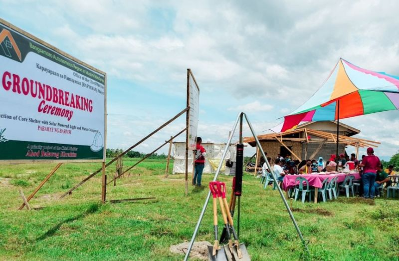 ZAMBOANGA. Some 50 indigent families in Sugadol village, Datu Abdullah Sangki (DAS), Maguindanao are set to benefit from the region-wide core shelter program of the Office of the Chief Minister (OCM) Ahod Ebrahim. A photo handout shows the OCM's Kapayapaan sa Pamayanan (Kapyanan) program holding a groundbreaking ceremony Wednesday, June 2, signaling the start of the project. (SunStar Zamboanga)