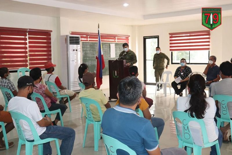 The Philippine Army holds consultation dialogue in Escalante City on Friday. (Contributed photo)
