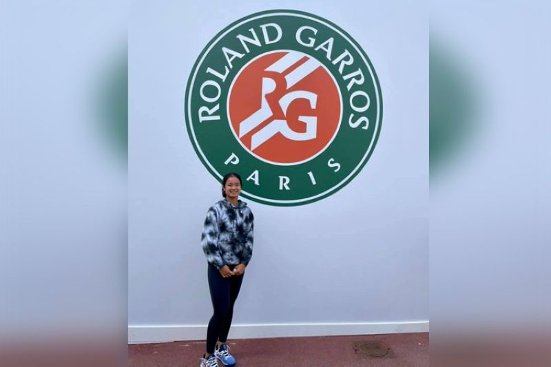 Filipina tennis star Alex Eala will be facing Matilda Mutavdzic of Great Britain in the first round of the French Open juniors singles competition. (Alex Eala Facebook page)
