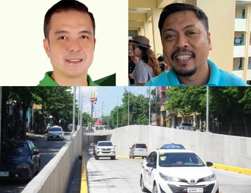 CEBU. (Clockwise) Councilors Edu Rama and Philip Zafra and the Mambaling Underpass. (Photo from Rama's FB page/File)