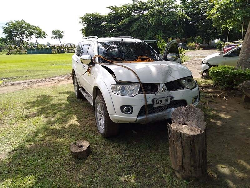 CAR ACCIDENT. Two women from Brgy. Jaclupan, Talisay City were hit by a Mitsubishi Montero driven by Jocelyn Nebria on June 10, 2021. The vehicle is now in the custody of the City of Talisay-Traffic Operations and Development Authority (CT-TODA) while the driver is under investigation for reckless imprudence resulting in serious physical injury and damage to property. / CT-TODA
