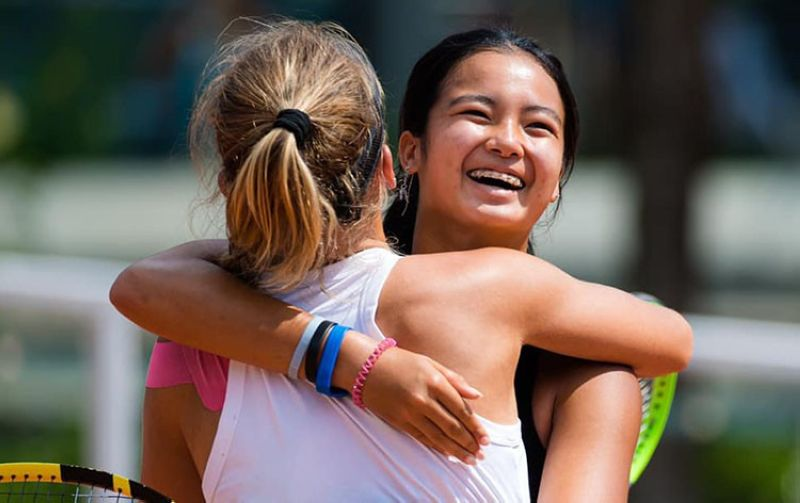 Alex Eala and Oksana Selekhmeteva moved on to the finals of the 2021 French Open girls' doubles tournament with a convincing win in the semifinals on Friday night. (Alex Eala Facebook page