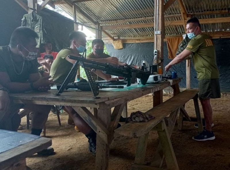 ZAMBOANGA. The Charlie Company of the Army's 53rd Infantry Battalion (53IB), with the aim of advancing the troops' knowledge and skills, conduct last week an orientation on the proper use of firearms. A photo handout shows the troops dismantling and reassembling as well as describing the parts of the firearms during the activity at the 53IB's Charlie Company in Gasa village, Lakewood, Zamboanga del Sur. (SunStar Zamboanga)