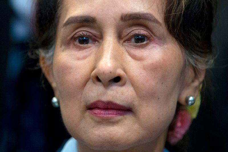 MYANMAR. In this December 11, 2019 file photo, Myanmar's leader Aung San Suu Kyi waits to address judges of the International Court of Justice in The Hague, Netherlands. (AP)