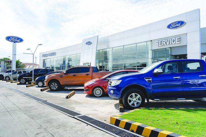 MODERNO: Ang moderno ug hamugaway nga sanga sa Ford Talisay diin makita ang mga bag-ong sakyanan sa Ford. / Tampo