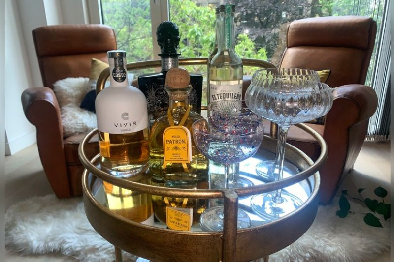 A variety of tequila brands are displayed in London on June 9, 2021. Love it or hate it, tequila conjures up strong feelings in many drinkers. For some, there are bad memories. But today's premium tequilas are changing some of those perceptions. (AP Photo)