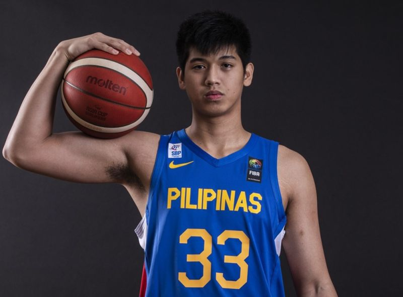 Talented Cebuano Carl Tamayo was named to the Gilas Pilipinas' final roster for their game against bitter rivals South Korea on Wednesday. (FIBA)