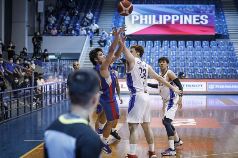 SJ Belangel shoots the game-winning three-pointer that lifted the Gilas Pilipinas over South Korea in the FIBA Asia Cup on Wednesday. / FIBA