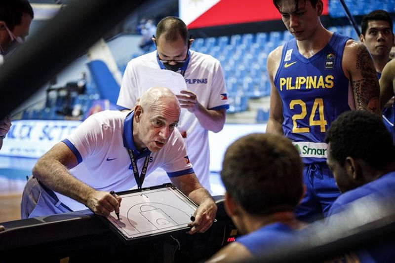 """Gilas head coach Tab Baldwin was miffed at the comment of Korea coach Cho Sang Hyun that implied the Philippines' victory came just because of a """"lucky shot."""" (FIBA)"""
