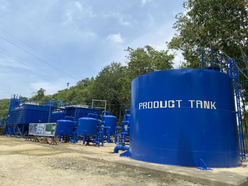 CLEAN WATER. The newly completed 12,500 cubic meter per day treatment plant in Compostela, Cebu is the first inclined plate lamella clarifier system implemented in Cebu and will be utilizing surface water from Cotcot River. / KATLENE O. CACHO