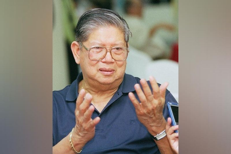 GIANT HEART. Norberto Quisumbing Jr., a giant in business and philanthropy, passes on Friday, June 18, 2021, at age 90. His remains were interred in Q-Park in Compostela, Cebu on Monday, June 21. Quisumbing was the founder of the Mandaue City-based Norkis Group of Companies. (SunStar file)