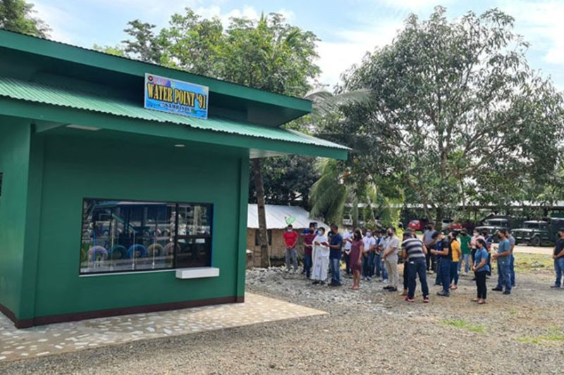 ZAMBOANGA. The Army's 102nd Infantry Brigade opens Saturday, June 19, a water refilling station to serve its personnel and the community at the camp premises in Ipil, Zamboanga Sibugay. A photo handout shows personnel of the brigade and their dependents attend the inauguration of the project. (SunStar Zamboanga)