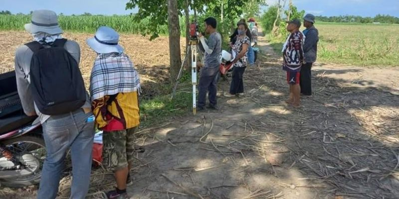 NEGROS. A team from DAR-Negros Occidental I conducts series of surveys in a 147.7126-hectare landholding located at Barangay Alicante in E.B Magalona town recently. (Contributed Photo)
