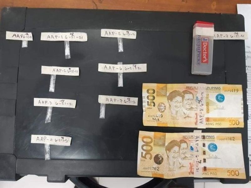 SAMAR. Alleged drug evidence confiscated during a police buy-bust operation in Calbayog City on June 21, 2021. (Contributed photo)
