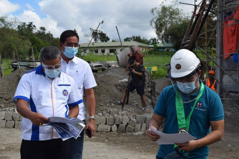 MONITORING PROJECTS. DPWH-Central Luzon officials monitor the progress of projects in Central Luzon. (DPWH)