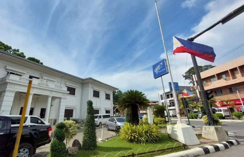 CAGAYAN DE ORO. City Hall's flag is flown at half-mast as the city pays respect and mourns the passing of former Philippine President Benigno 'Noynoy' Aquino III. (Photo from City Information Office)