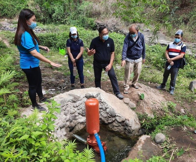HYDRAM. Officials inspect the Hydradam, a simple technological solution that has given Aetas in the mountainous communities of Porac access to clean water. (Contributed photo)