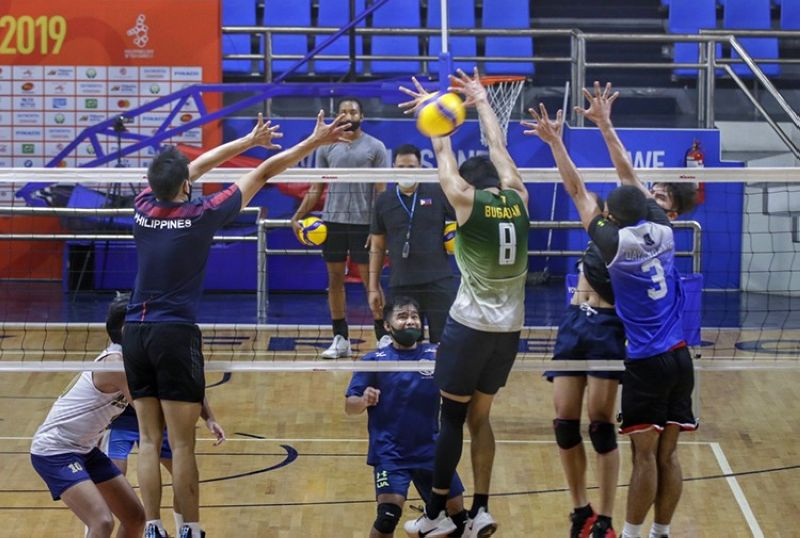 The men and women's national volleyball teams will start training inside a bubble on July 1. (PNVF)