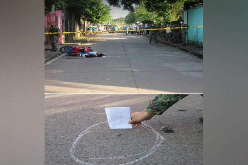 VICTORIAS. Unidentified riding-in-tandem kill the number one drug personality in Victorias City Monday. (Contributed photo)