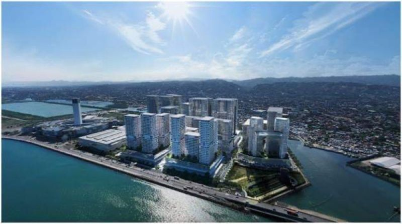 NEW BUSINESS DISTRICT. This is an artist's perspective of the South Coast City located along the South Road Properties in Cebu City. South Coast City will feature a commercial center known as District Square, a 1.1 hectare park, an arena, a convention center and other recreational facilities. / AYALA LAND INC.