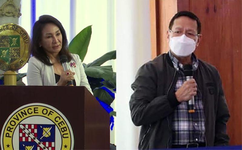 CEBU. Cebu Governor Gwendolyn Garcia (left) and Health Secretary Francisco Duque III. (Screenshot from Sugbo News video)