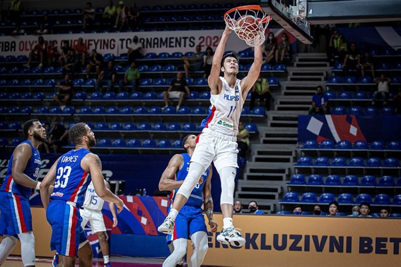 Kai Sotto is expected to play for the Gilas Pilipinas in the FIBA Asia Cup next month. (FIBA)