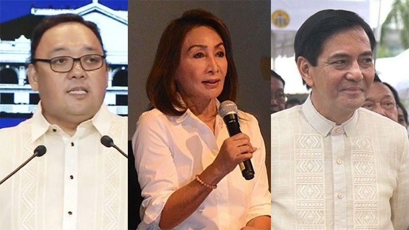 CEBU. (From left) Presidential Spokesperson Harry Roque, Cebu Governor Gwendolyn Garcia and Cebu City Vice Mayor Mike Rama. (SunStar File)
