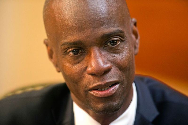 HAITI. In this February 7, 2020, file photo, Haiti's President Jovenel Moise speaks during an interview at his home in Petion-Ville, a suburb of Port-au-Prince, Haiti. (AP)