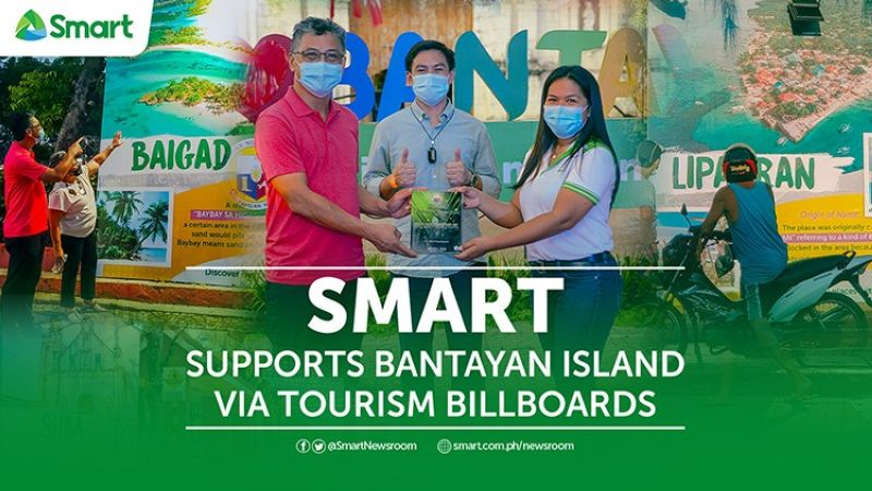 An unveiling ceremony was held during the municipality's Bantayan Day celebration attended by its local government officials headed by Hon. Mayor Arthur E. Despi, and representatives from Smart led by Marylou Gocotano, Manager of Smart Group Corporate Communications-Visayas. (Contributed photo)