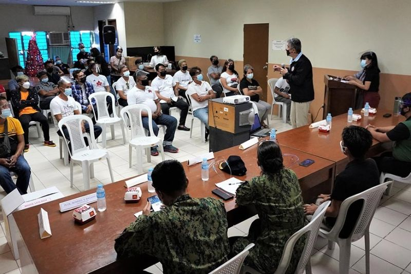 DRUG SURRENDEREES. Drug surrenderees graduated from Angeles City's community-based rehabilitation program. The war on illegal drugs and criminality is one of the city government's priority programs. (Angeles City Information Office)