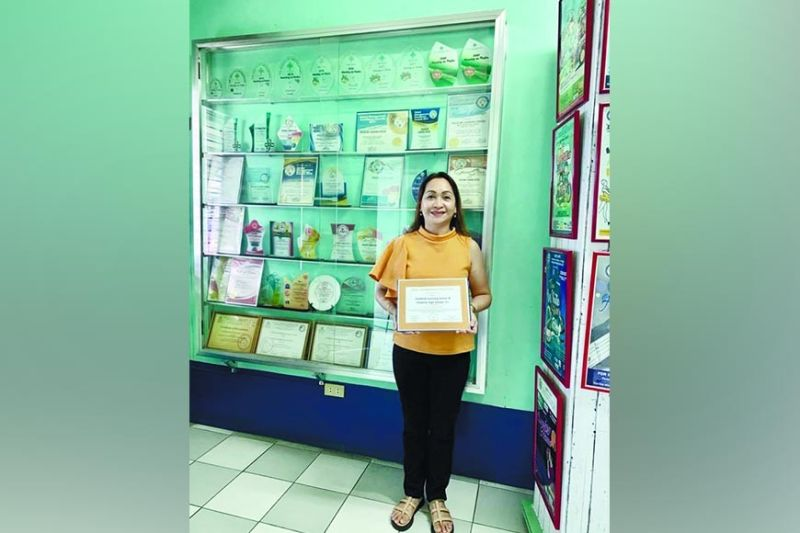 AWARD. Childlink founder and school directress Maria Theresa Tio, also known as Teacher Tess, received the most recent recognition of the school last May 2021 from the Character Org. National School of Character based in Washington D.C., USA. / CONTRIBUTED